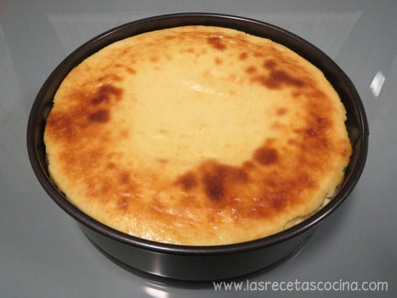 Tarta de queso con arándanos - horneada