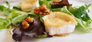 Ensalada de queso de cabra manzana y nueces