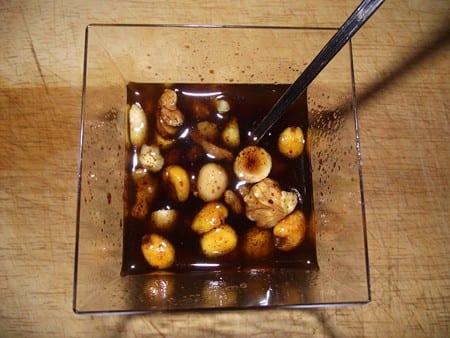 emulsión de frutos secos,vinagre de modena,aceite y miel