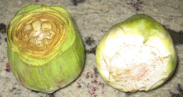 alcachofas con champiñosnes y huevos de codorniz