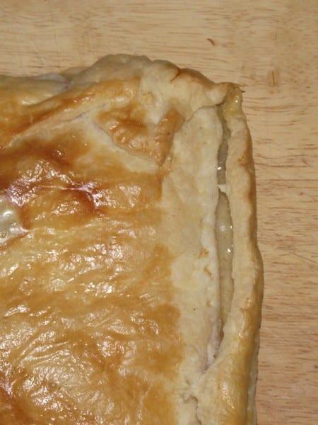 rica receta de hojaldre rellena de jamón york y queso