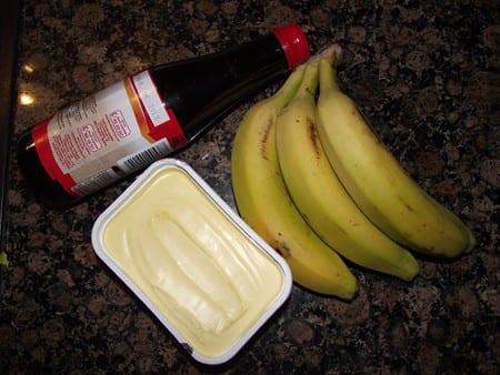 ingredientes necesarios para hacer plátano frito con caramelo