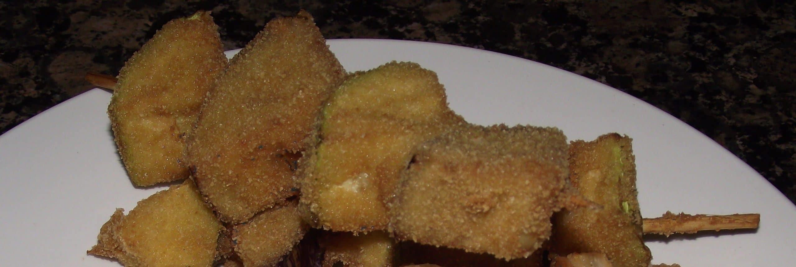 brocheta a base de verdura: calabacin y berenjena