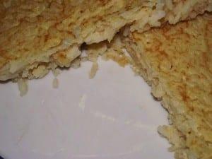 receta finalizada de tortilla de arroz
