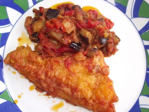 receta finalizada de bacalao con chanfaina