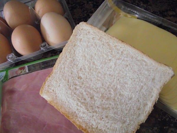 ingredientes para la receta del sándwich especial