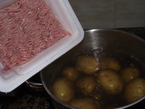 ingredientes básicos para patatas rellenas