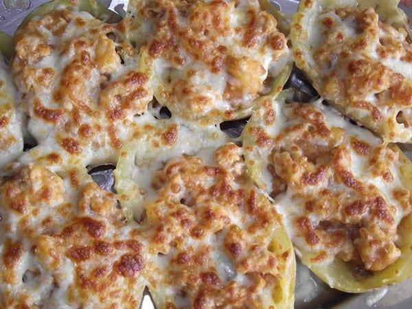 receta finalizada de patatas rellenas al horno
