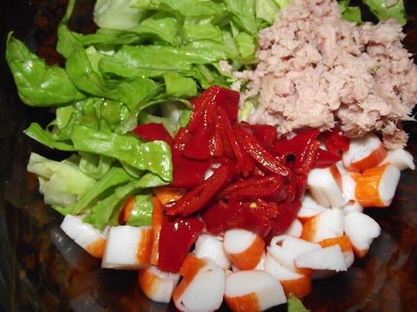 ingredientes básicos para la ensalada