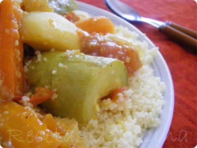 Cuscús de pollo con verduras