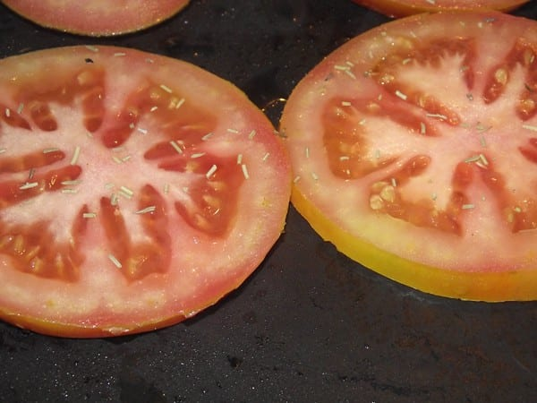 tomate en la plancha