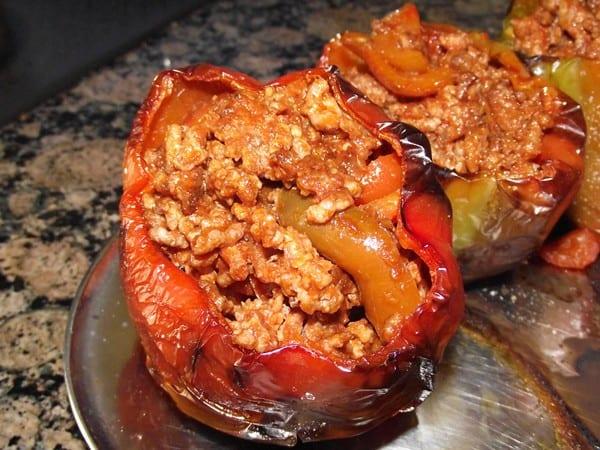 receta finalizada de pimientos rellenos