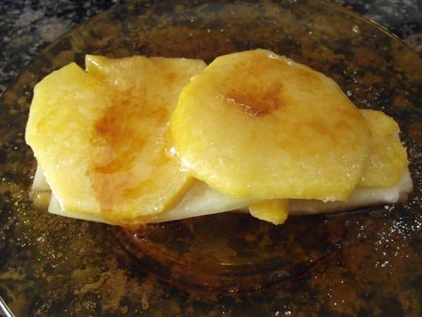 receta finalziada de melon con melocoton y azucar quemado