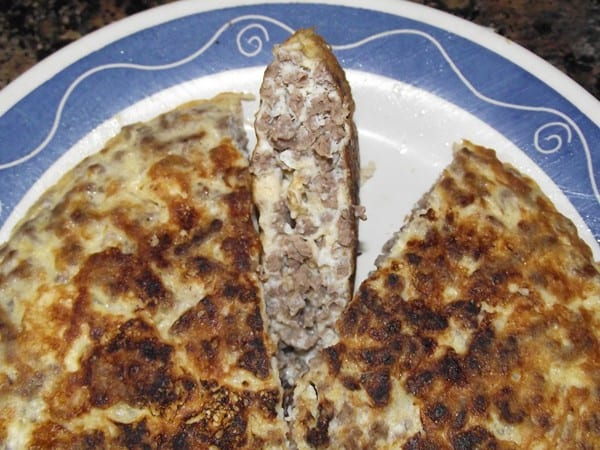 receta finalizada de tortilla de carne picada