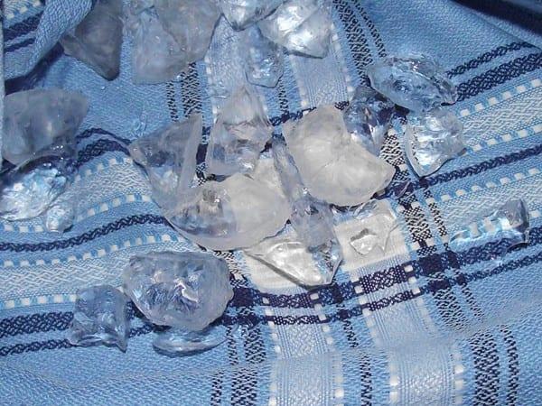 hielo picado para el soldado