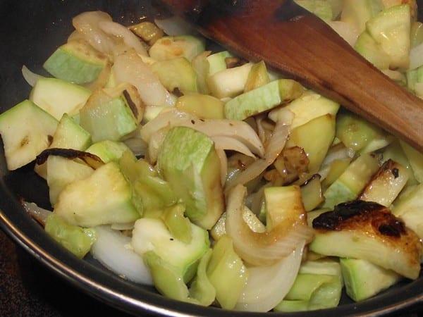 verduras pochandose