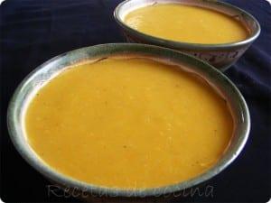 Crema de zanahoria y calabacín