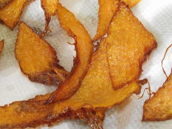 receta finalizada de chips de calabaza