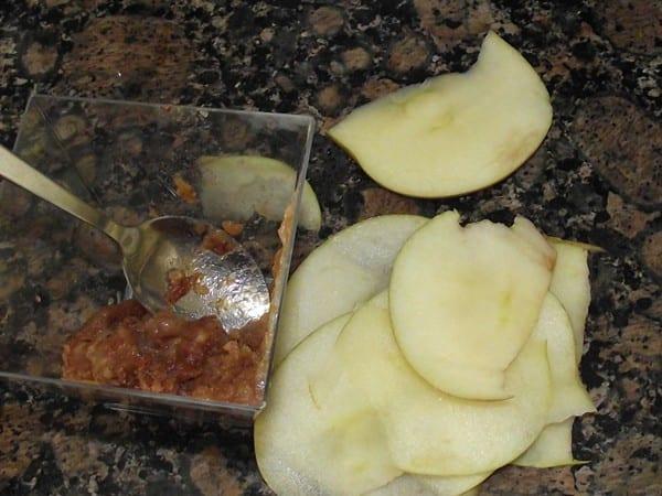 manzana laminada y pulpa de nispero
