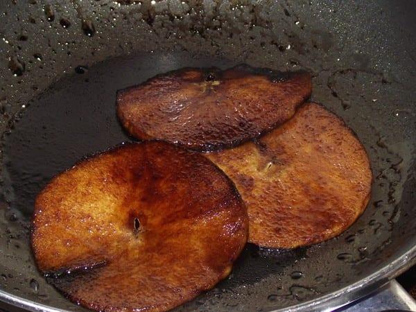 manzana laminada con reduccion de vinagre de modena