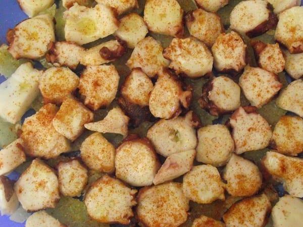 receta finalizada de pulpo a la gallega