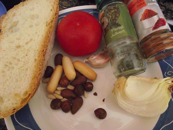 ingredientes para el sofrito