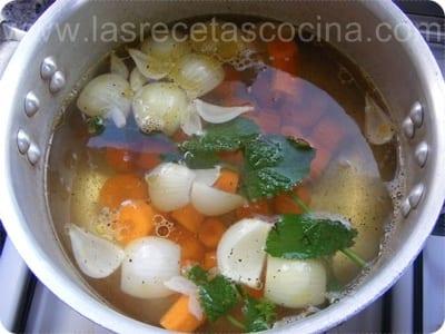 Sopa de zanahorias a la hierbabuena