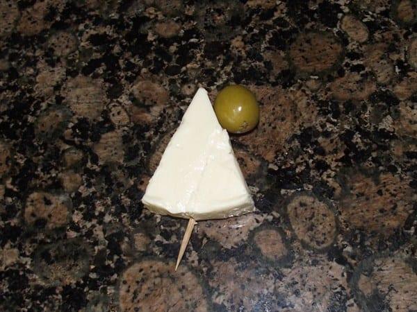 vela de queso y aceituna