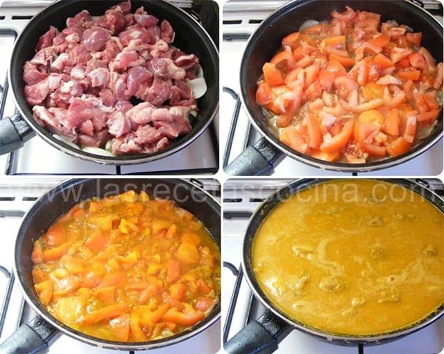 Carne en salsa de verduras