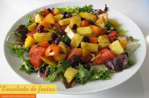 Ensalada de frutas tropical