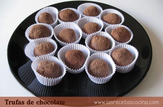 Trufas de chocolate, receta en tres sencillos pasos
