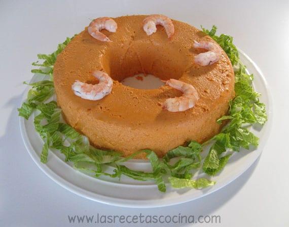 Receta de pastel de salmón y langostinos