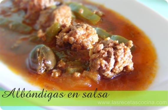 Receta fácil de albóndigas en salsa