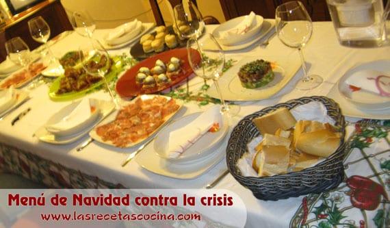 Menú de Navidad contra la crisis