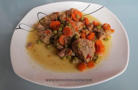 Receta de pavo con verduras