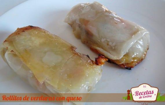 Rollitos de verduras con queso, receta de rollitos con queso muy rica