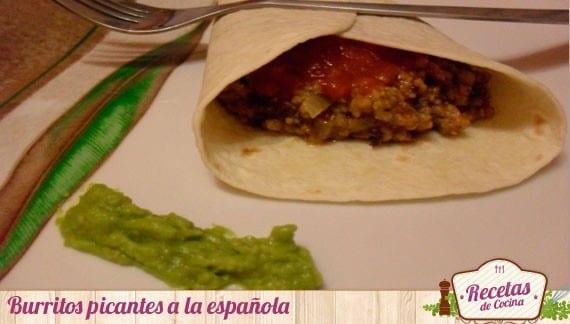 Burritos picantes a la española