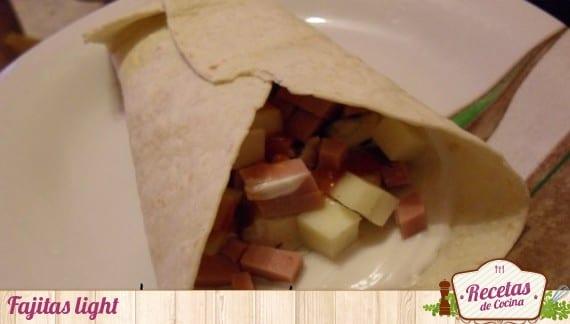 Fajitas light, cena saludable para empezar bien el 2013