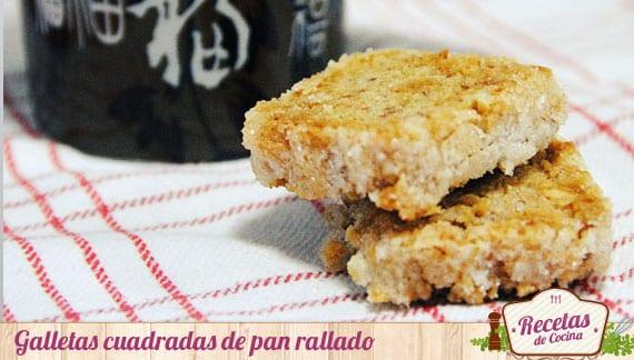 Galletas cuadradas de pan
