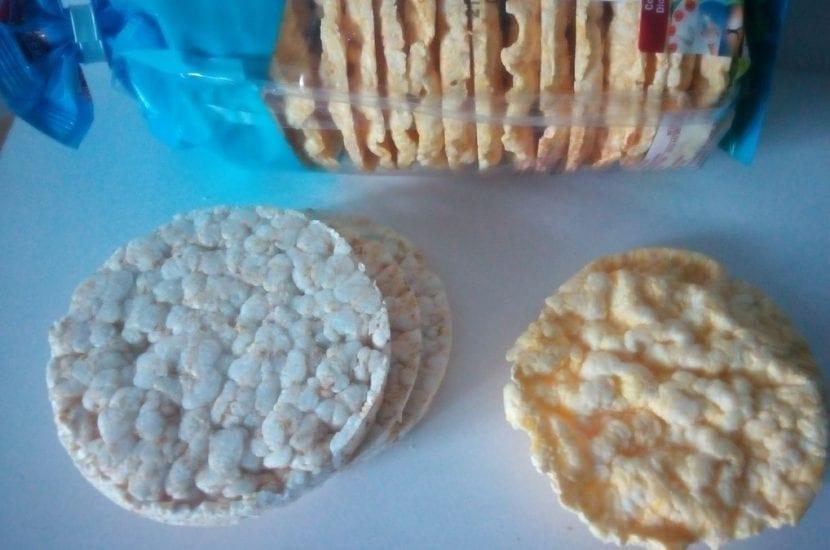 Tortitas de arroz y maíz