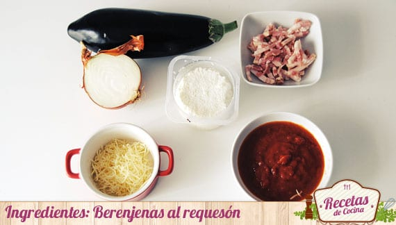 Ingredientes Berenjenas al requesón