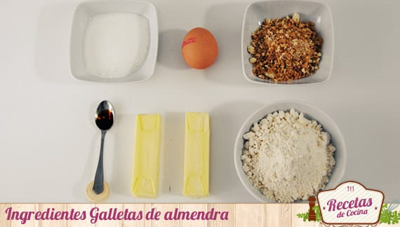 Ingredientes galletas de almendra