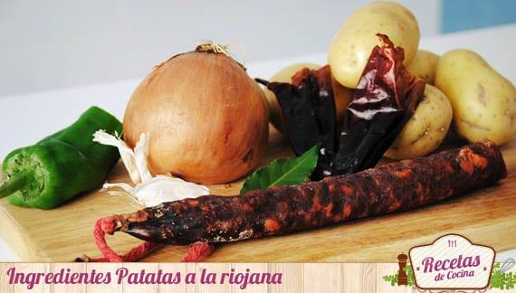 Ingredientes Patatas a la riojana