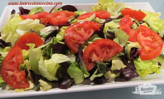 Lechuga y tomate emplatado