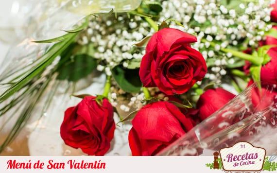 Menu de San Valentín