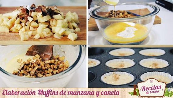Elaboración Muffins de manzana y canela