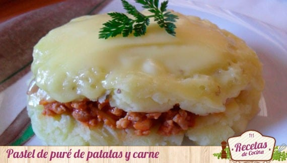 Pastel de puré de patatas y carne