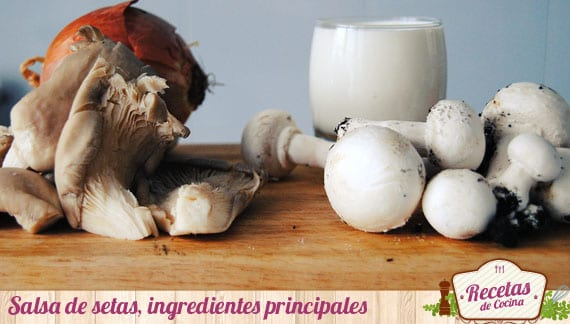 Ingredientes salsa de setas