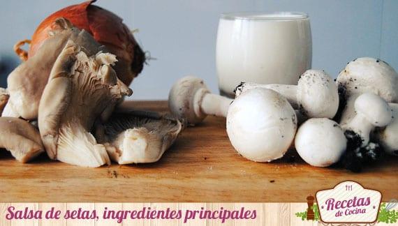 Ingredientes salsa de setas