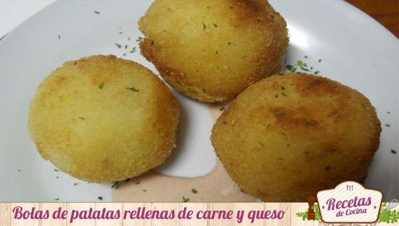 Bolas de patatas rellenas de carne, riquísimas para los más pequeños